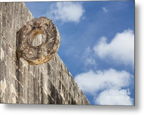 The Stone Ring At The Great Mayan Ball Court Of Chichen Itza Metal Print