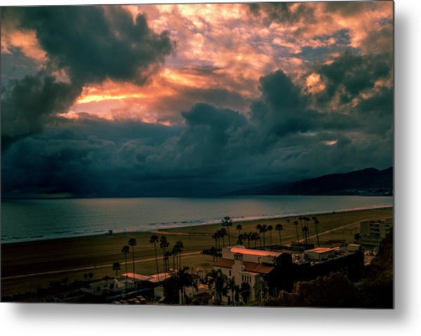 The Storm Moves On Metal Print