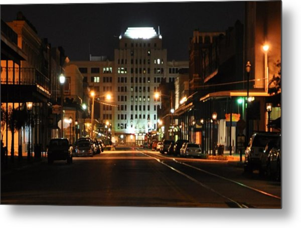 The Strand At Night Metal Print