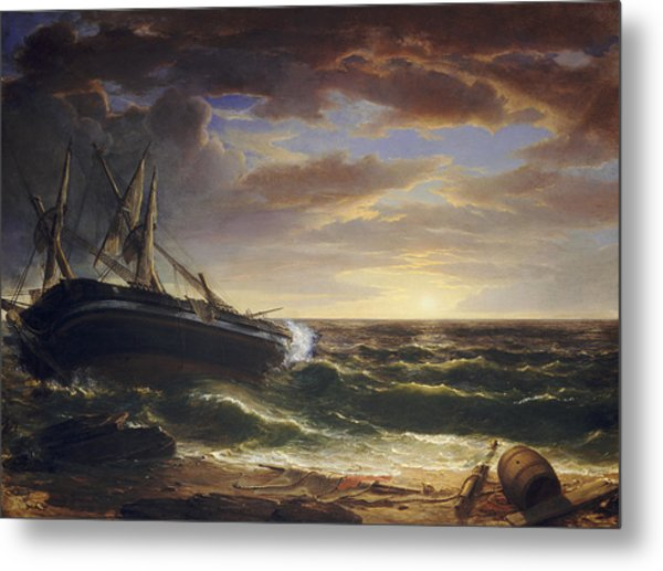 The Stranded Ship Metal Print