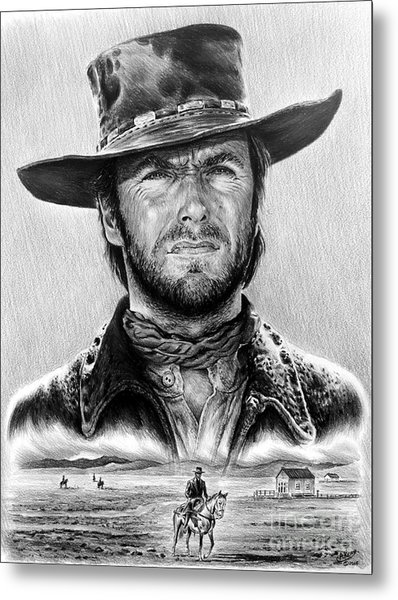 The Stranger Bw 1 Version Metal Print