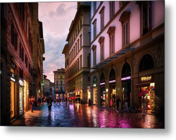 The Streets Of Florence Metal Print