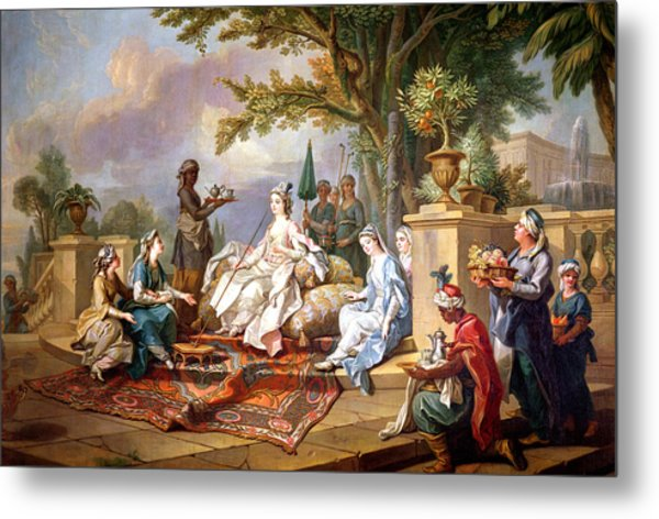The Sultana Served By Her Eunuchs Metal Print