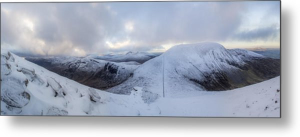 The Summit And Down The Wall Metal Print