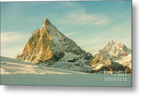 The Sun Sets Over The Matterhorn Metal Print