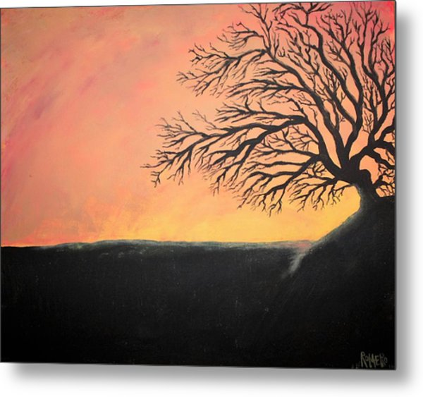 Metal Print featuring the painting The Sun Was Set by Antonio Romero
