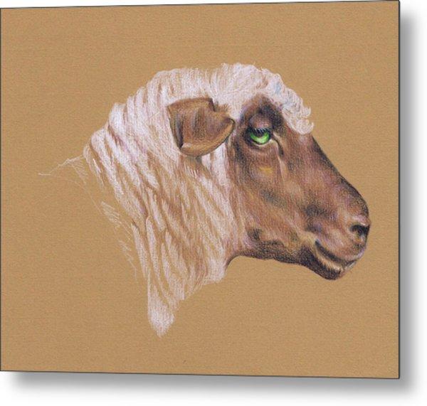 The Surly Sheep Metal Print