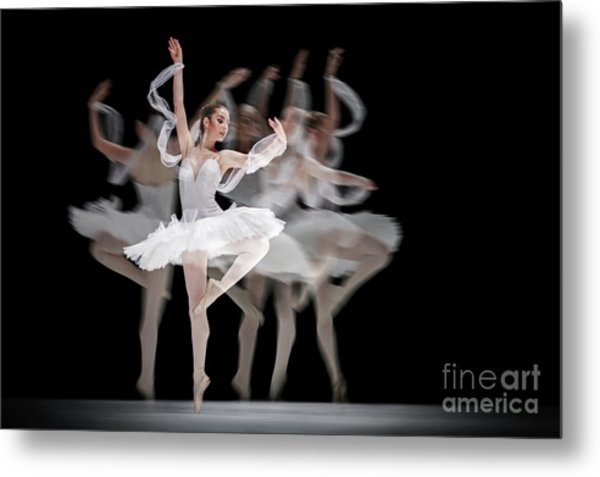 Metal Print featuring the photograph The Swan Ballet Dancer by Dimitar Hristov