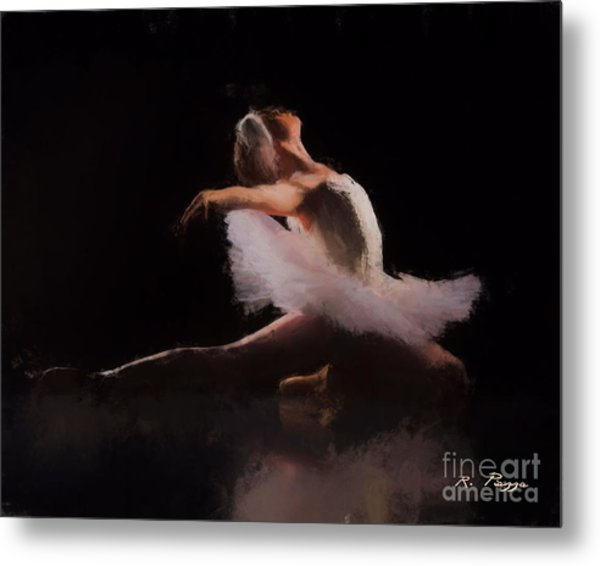 Metal Print featuring the painting The Swan  by Rosario Piazza