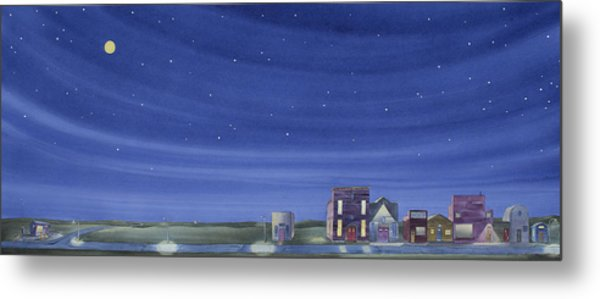 The Sweetest Little Town In The Prairie II Metal Print