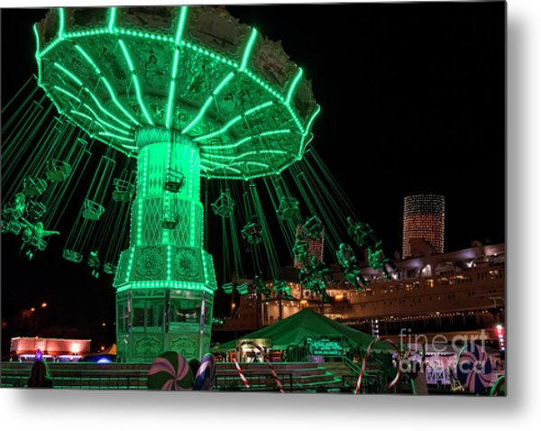 The Swings At Queen Mary's Chill Metal Print by Eddie Yerkish