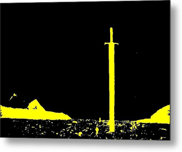 The Sword Metal Print by Teo Spiller