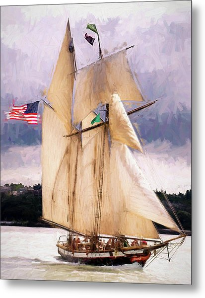 The Tall Ship The Lynx, Fine Art Print Metal Print