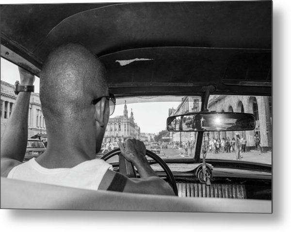 From The Taxi Metal Print