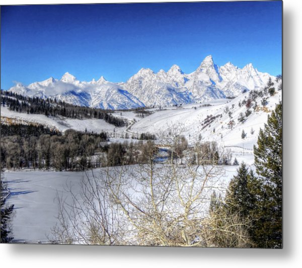 The Tetons From Gros Ventre Valley Metal Print
