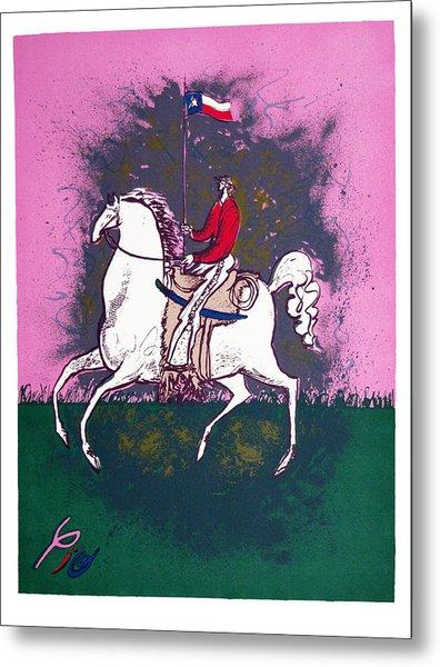 The Texan Metal Print by Pio Pulido