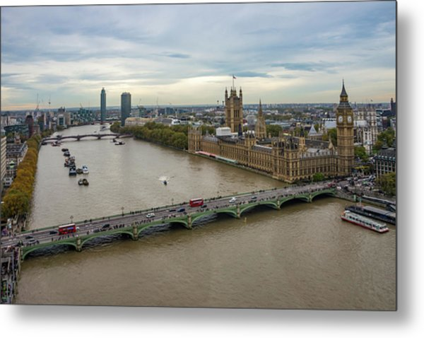 The Thames At Sunset Metal Print