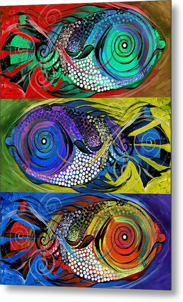 The Three Fishes Metal Print