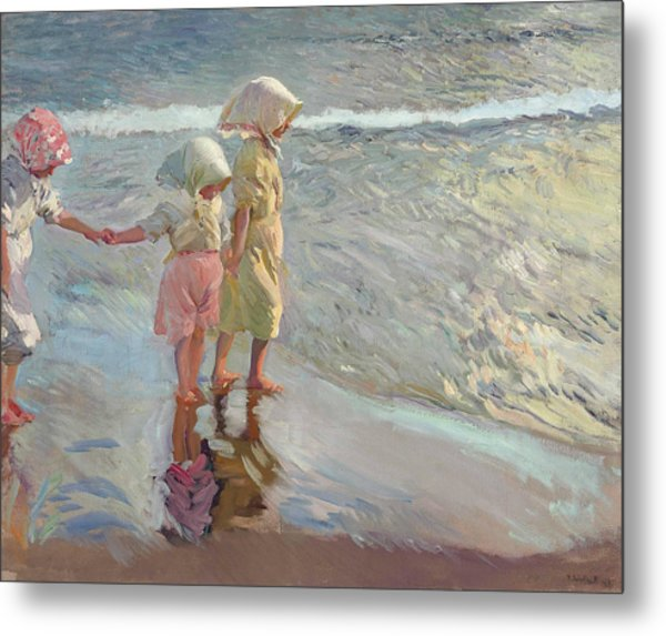 The Three Sisters On The Beach Metal Print