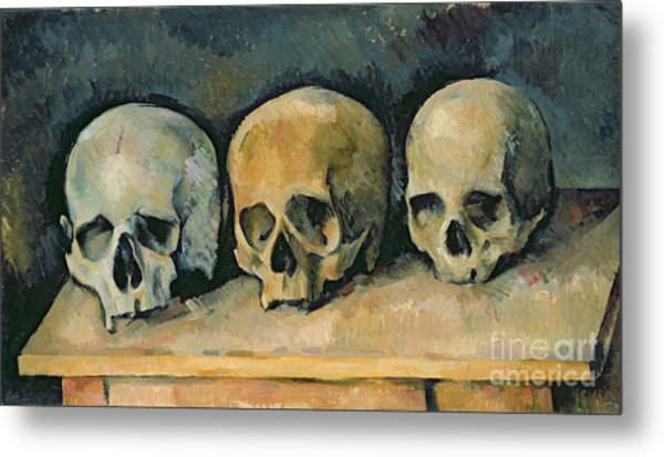 The Three Skulls Metal Print