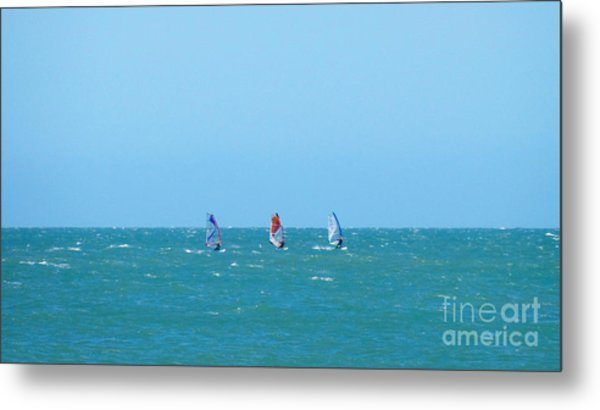 The Three Surfers Metal Print