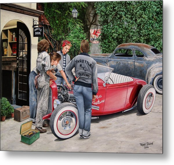 The Throttle Queens Metal Print