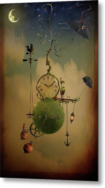 The Time Chasers Metal Print