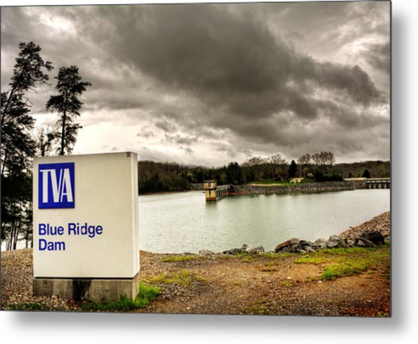 The Top Of Blue Ridge Dam Metal Print by Greg and Chrystal Mimbs