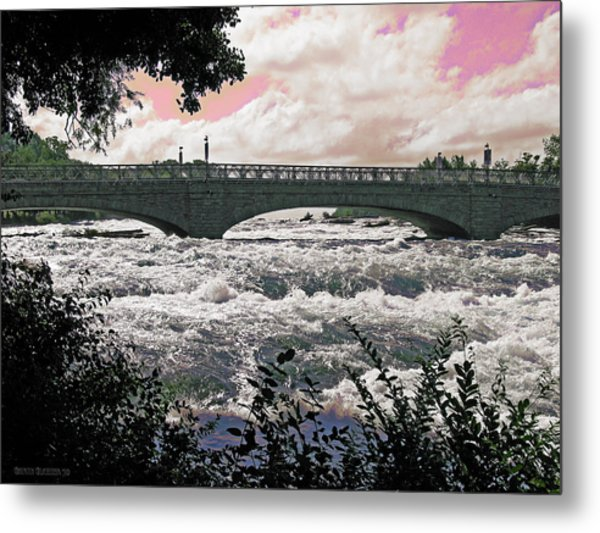 The Torrent Above Niagara Metal Print by Garth Glazier