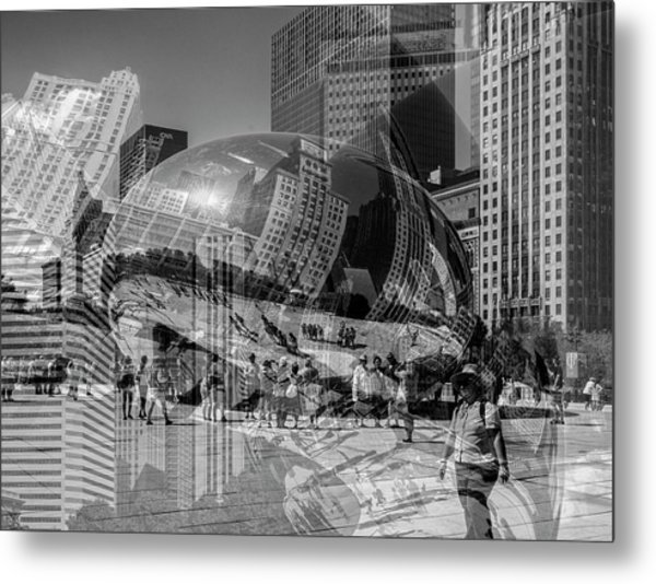 The Tourists - Chicago Metal Print