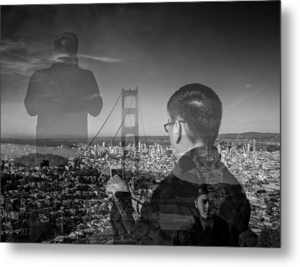 The Tourists - Golden Gate Bridge Metal Print