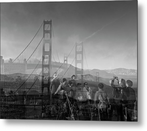 The Tourists - Golden Gate Metal Print