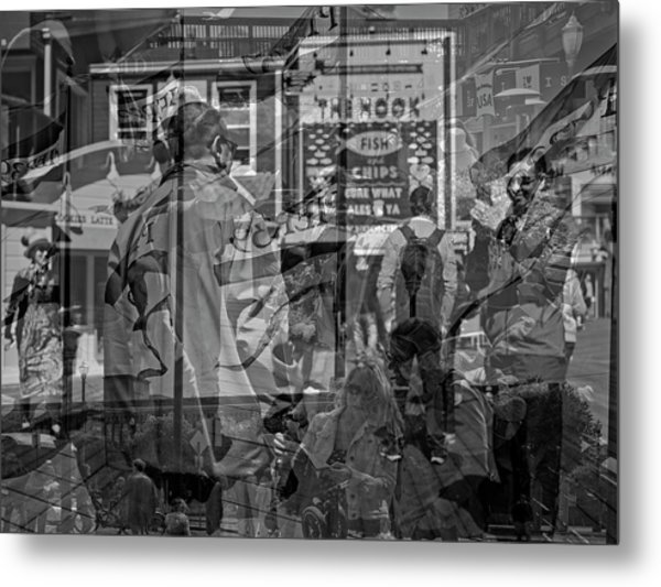 The Tourists - Pier 39 Metal Print