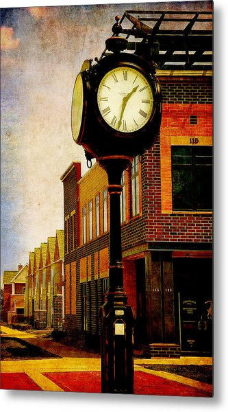 the Town Clock Metal Print