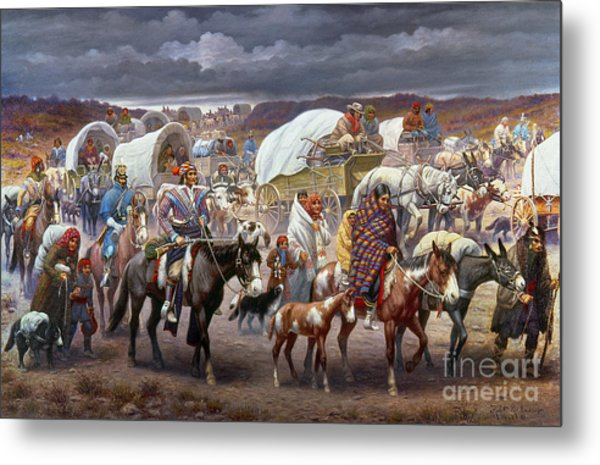 The Trail Of Tears Metal Print