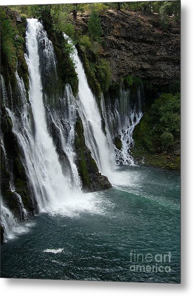The Tranquility Of Waterfalls Metal Print by Stephanie  H Johnson