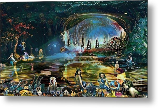 The Treasure Cave Of The Mermaids Metal Print