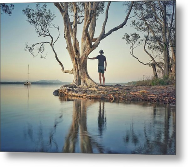 The Tree And Me Metal Print