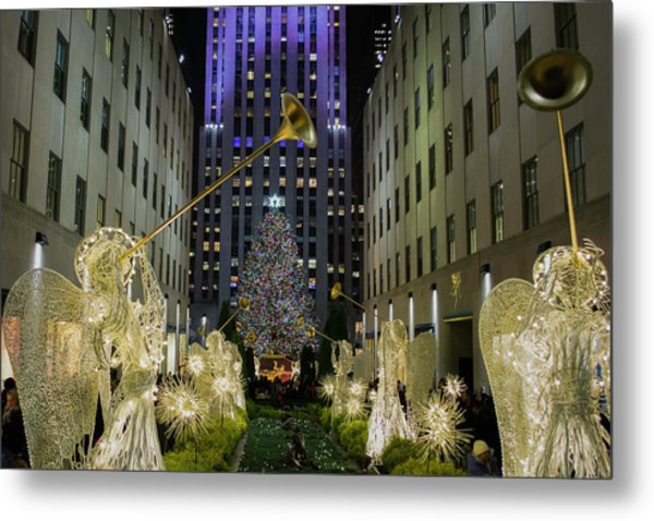 The Tree At Rockefeller Plaza Metal Print