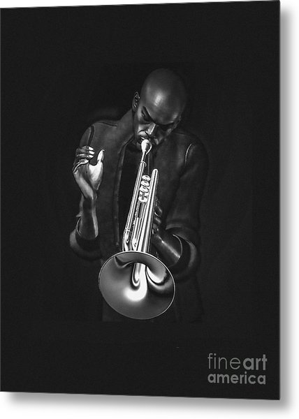 The Trumpet Player Metal Print