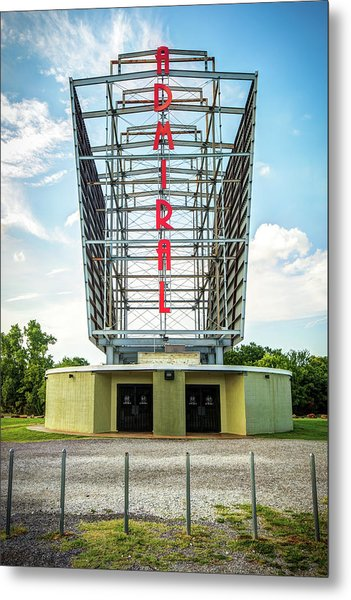Metal Print featuring the photograph The Tulsa Admiral Twin Drive-in by Gregory Ballos