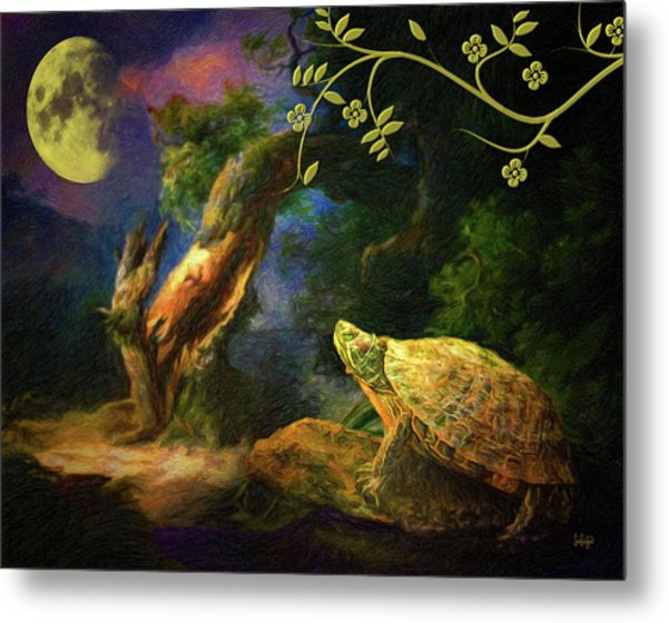 The Turtle Of The Moon Metal Print