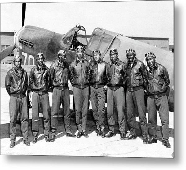 The Tuskegee Airmen Circa 1943 Metal Print