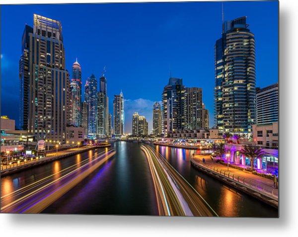 The Twilights Dubai Metal Print by Vinaya Mohan