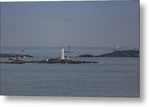The Two Harbor Lighthouses Metal Print