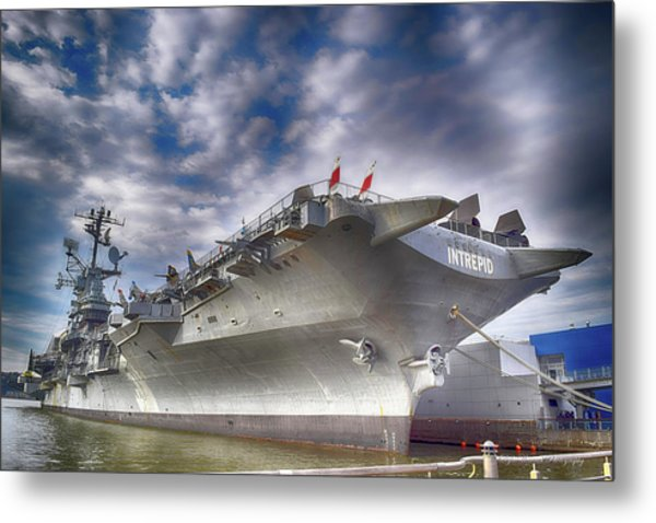 The U S S Intrepid  Metal Print