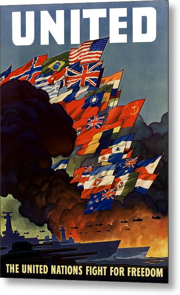 The United Nations Fight For Freedom Metal Print