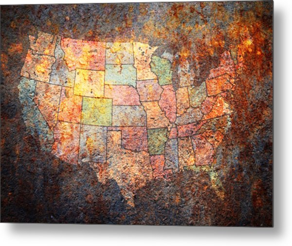 The United States Metal Print