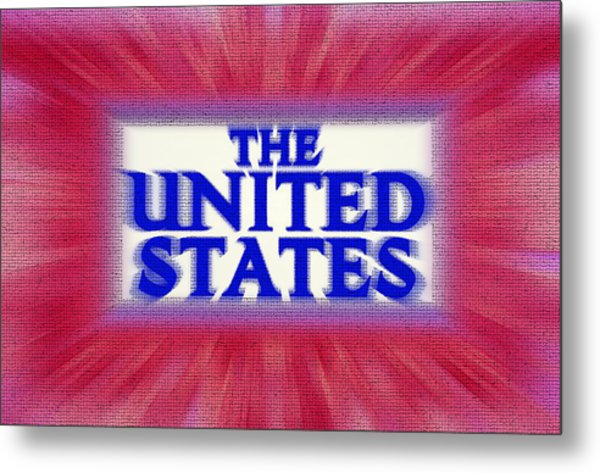 The United States Sign Metal Print by Steve Ohlsen