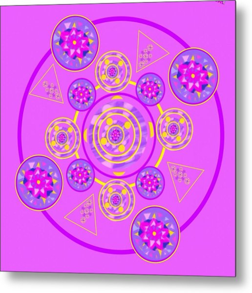 The Universal Spin Of Violet Metal Print